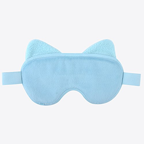 Hot Cold Face Eye Mask for Hot or Cold Therapy, Microwave Travel Sleep Eye Mask with Gel Beads, Cute Soft Ice Compress Eye Pad with Straps for Soothing Puffy Eyes, Swollen Eyes, Dark Circles, Stress by NEWGO (Image #2)