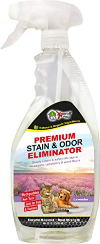 Extreme Consumer Products Lavender Scented Pet Odor Eliminator - Professional Strength All Natural Pet Stain and Odor Remover - 1 Pack (22oz) ()