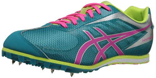 ASICS Women's Hyper LD 5 Track Shoe,Enamel Blue/Hot Pink/Sharp Green,9 M US -