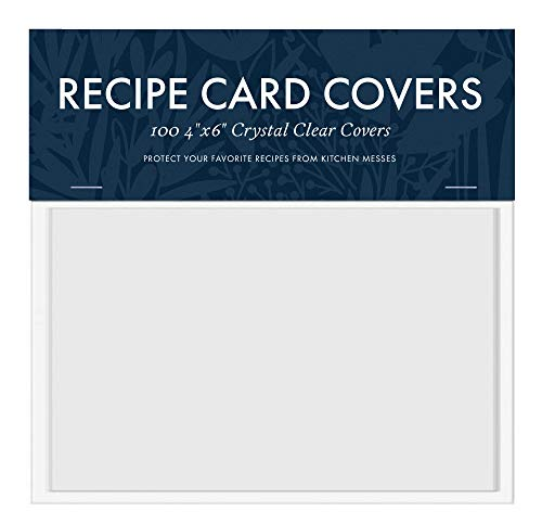 Jot & Mark 4x6 Recipe Card Protectors | Protect
