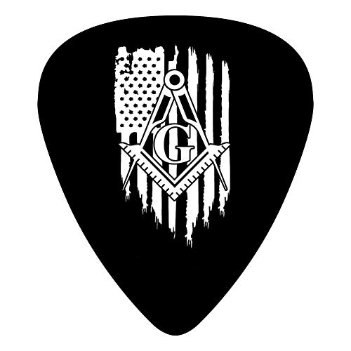 AIRIIII Personalized American Freemason Flag Guitar Pick