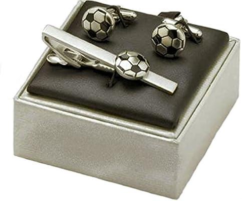 Balón de fútbol corbatas y juego de gemelos con diseño: Amazon.es ...