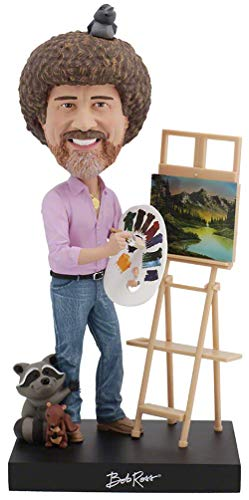 Royal Bobbles Bob Ross Bobblehead, Collectible Bobblehead Figurines (Santa Head Bobble)