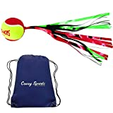 Fun Tennis Balls for Kids with Streamer- (OnCourt OffCourt, Muti-Packs) – Bundled with Covey Sports Bag