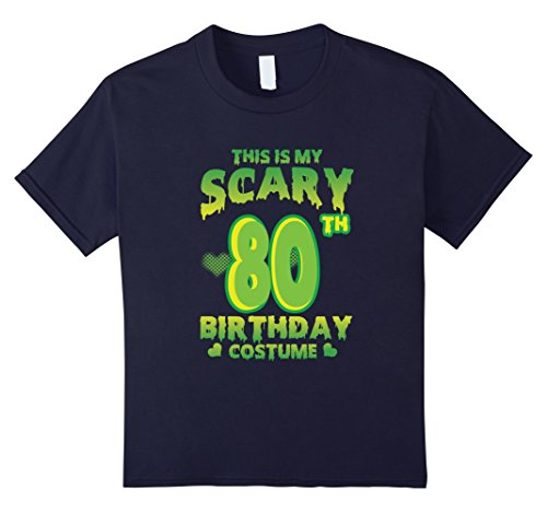 Kids Halloween Costume For 80 Years Old. 80th Birthday Shirt. 12 Navy (Cool 80's Halloween Costumes)