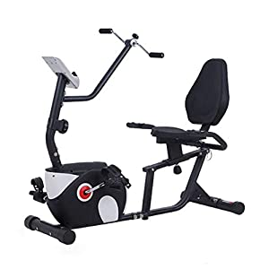 41FPCMrO9bL. SS300 Allenamento Horizontal Spin Bike Professionale Cyclette Aerobico Home Trainer, Monitoraggio Della Frequenza Cardiaca, Regolazione Della Resistenza a 8 Livelli, Volano Silenzioso Compreso