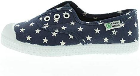 Natural World Schuhe für Mädchen Slipper Marino Dunkelblau W70010