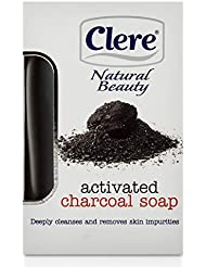 CLERE Activated Charcoal Soap Deep Cleanse Removes Impurities 150g/5.2oz