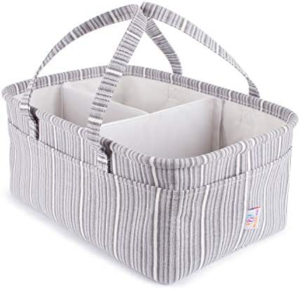 Special Diaper Caddy Organizer Storage Solution for Your Newborn - Organize Everything You Can Imagine - Great Baby Shower Gifts for Boys and Girls (Gray)