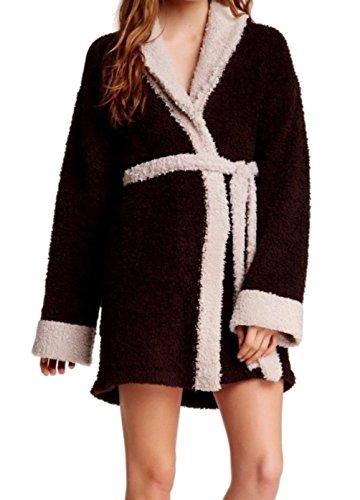 Barefoot Dreams Junior Belted Robe Sleepwear Brown 1