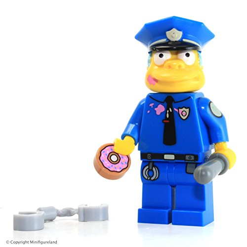 The Simpsons LEGO MiniFigure - Chief Wiggum (Doughnut Frosting on Face) 71016