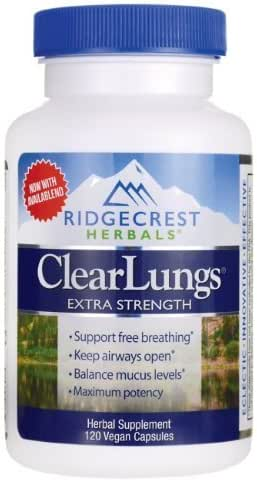 RidgeCrest Clearlungs Extra Strength Herbal Decongestant , 120 Veg Capsules