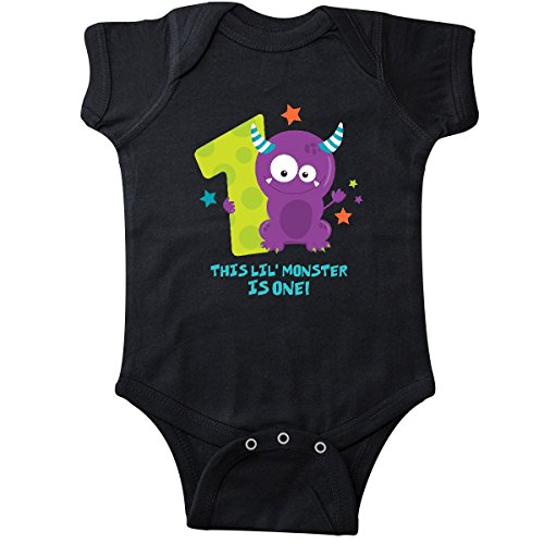 inktastic Monster 1st Birthday Infant Creeper 12 Months Black from inktastic