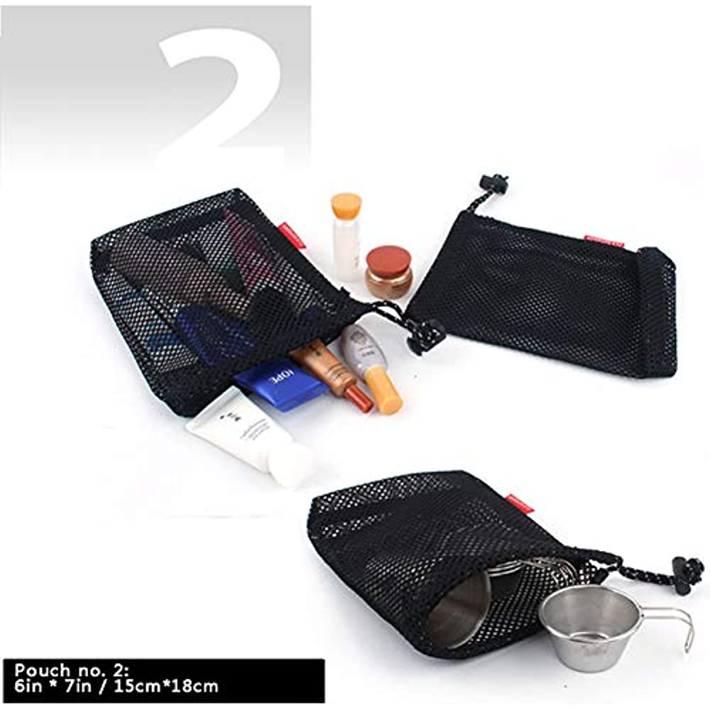 3d76a95a1bb3 Details about Drawstring Bags Pouch/Ditty Bag/Mesh Stuff Sack Camping Cord  Storage 5-in-1 Use