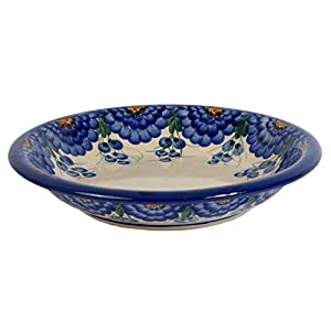 Traditional Polish Pottery, Handcrafted Ceramic Soup or Pasta Plate 22cm, Boleslawiec Style Pattern, T.201.Arts
