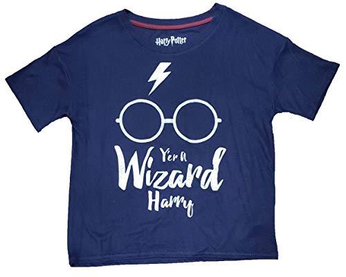 Richard Leeds International Harry Potter Y'er A Wizard Harry Navy Hacci Sleep Top - X-Small