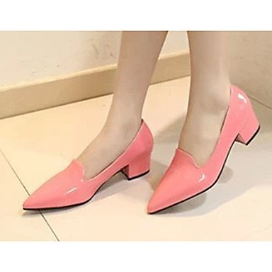 Chunky CN39 Casual Pink Others Black Women'sHeels Summer Heels US8 Heel Red UK6 Patent Leather Others EU39 XqCZTCxw