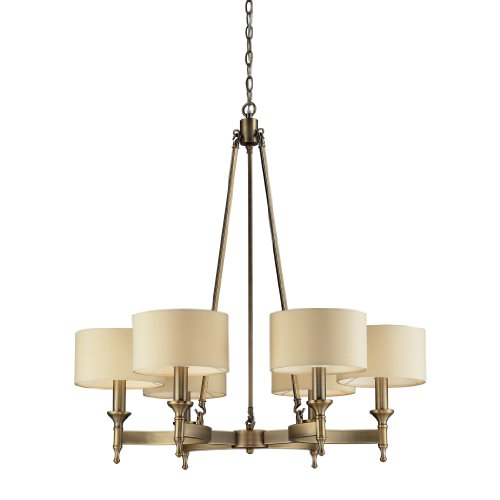 Elk Lighting 10263/6 Pembroke Six Light Chandelier, Antique Brass - Antique Chandeliers For Sale: Amazon.com
