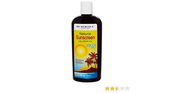 Dr. Mercola naturales Protector solar SPF 15 (resistente al agua ...