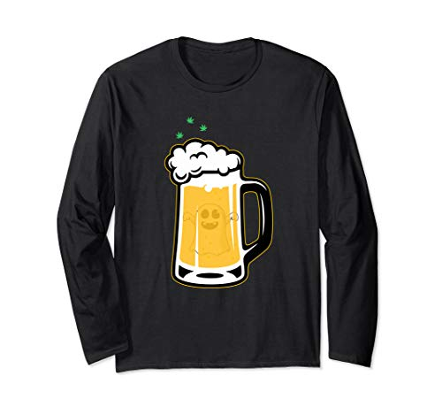 Halloween Drinking Squad Ghost Beer Mug - Halloween Souvenir Long Sleeve T-Shirt -