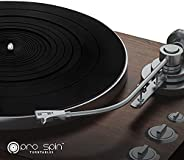 Black Silicone Turntable Mat by PRO SPIN for Vinyl LP Record Players (3mm) | High-Fidelity Audiophile Silicone