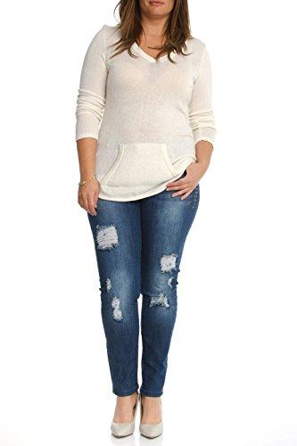 6a38869de36 1826 WOMENS PLUS SIZE Distressed Ripped Destroy BLUE DENIM JEANS Skinny  PANTS good