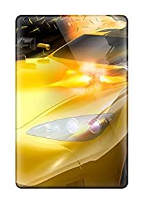 Slim Fit Tpu Protector Shock Absorbent Bumper Yellow Car With Machine Guns Case For Ipad Mini/mini 2