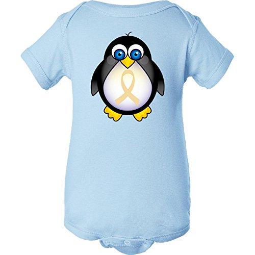 Inktastic Unisex Baby Cream Awareness Penguin Infant Creeper Newborn Baby Blue