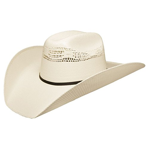 Stetson Mens 7X Ringer Straw Cowboy Hat Medium Natural