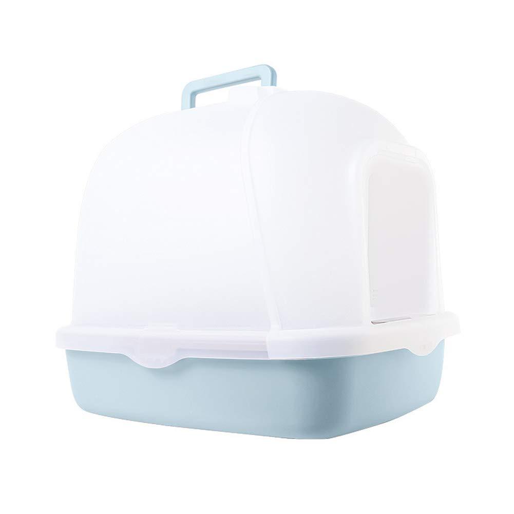 大型 ネコトイレ, ハーフカバー本体セット猫用トイレ本体, 消臭&抗菌, 取り外し可能 猫のトイレボック (色 : ブラウン ぶらうん) B07QYCZQJ4 青  青