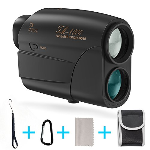 Fnova Laser Rangefinder, Hunting Range Finder Ranging 5-600 Yards Digital Rangefinder 6X Magnification Lens Golf Rangefinder for Hunting, Golf, Racing, Archery and Survey (BlACK 1000M)