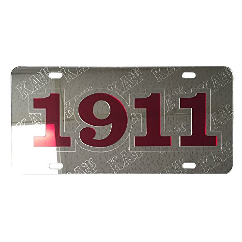 Kappa Alpha Psi License Plate Car Tag   Foudning Year  Silver   6206