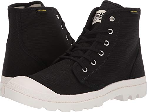 Palladium Unisex Pampa Hi Originale Black/Marshmallow 12 Women / 10.5 Men M -