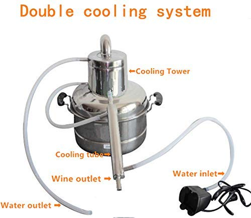 2 GaL 10L Alcohol Distiller Home Brewing Kit Moonshine Still Wine Spirits Boiler With Free Pump by WMN_TRULYSTEP (Image #7)