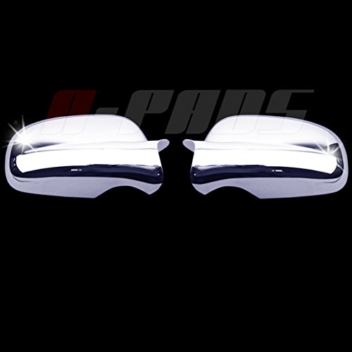 A-PADS 2 Chrome Mirror Covers For Chevrolet IMPALA 2002 2003 2004 2005 - FULL Mirrors -