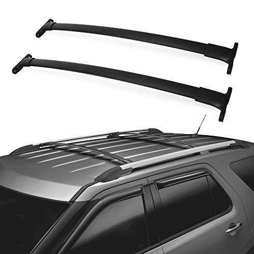 Explorer Rails - LED Kingdomus Roof Rack Cross Bars, 2016-2019 Ford Explorer Crossbars, Cargo Carrier Roof Luggage Rack, Carry Kayak Canoe Rooftop Bag