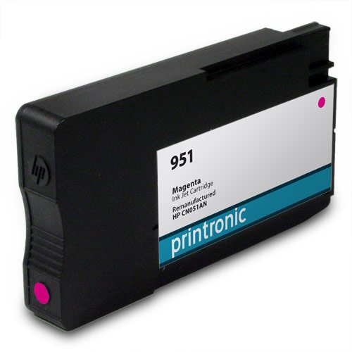 Printronic Remanufactured HP 951 CN051AN 1 Magenta for OfficeJet Pro 251dw OfficeJet Pro 276dw OfficeJetPro 8100 OfficeJetPro 8600 OfficeJet Pro 8600 Plus OfficeJet Pro 8600 Premium Ink Cartridges
