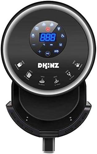 Wghz Friteuse à air de 3,2 L avec minuterie à Affichage numérique et contrôle de la température entièrement réglable pour Un écran LCD Cramoisi sans Huile et Faible en Gras