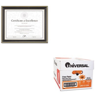 KITDAXN2709N6TUNV21200 - Value Kit - DAX MANUFACTURING INC. Gold-Trimmed Document Frame w/Certificate (DAXN2709N6T) and Universal Copy Paper (UNV21200)