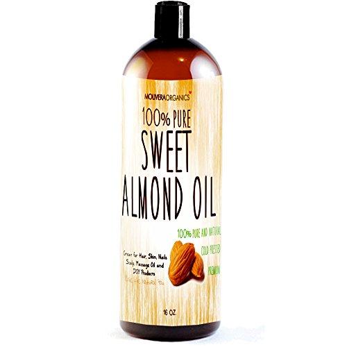 Almond Kernel Oil - Molivera Organics Sweet Almond Oil, 16 oz.