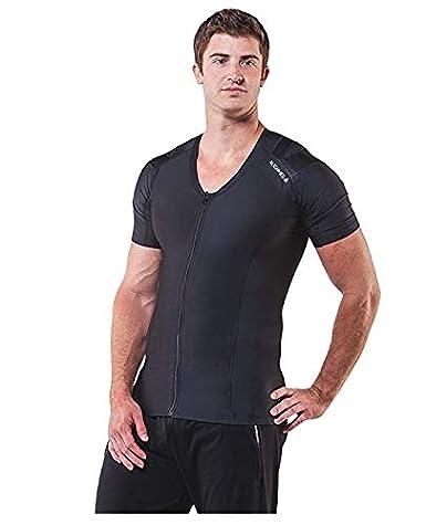 ALIGNMED Posture Shirt Compression Posture Support Breathable Mens Zipper Shirt
