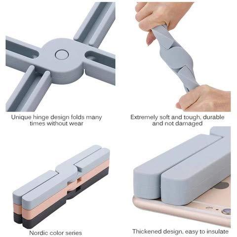 Dessous de Plat Pliable Tapis r/ésistant /à la Chaleur Support de cuill/ère en Silicone pour Tapis de Cuisine Polyvalent Serria 22/×4/×2 cm extensible du//design pliable en silicone Dessous de Plat
