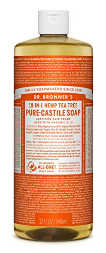 Dr. Bronner's Pure-Castile Liquid Soap - Tea Tree 32oz by Dr. Bronner's