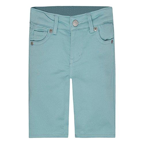- Levi's Girls' Big Super Soft Denim Bermuda Shorts, Pastel Turquoise, 10