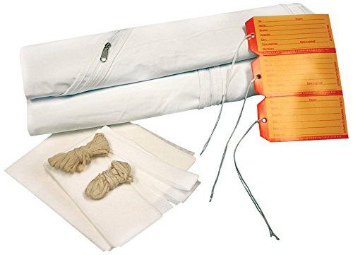 PDC Healthcare 55751-00-MBC Cadaver Bag, Adult Kit, Curved Zipper, Vinyl, 36'' x 90'', White (Pack of 10)