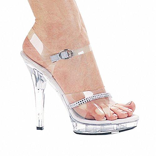 Ellie M-JEWEL Womens Sexy Comfortable 5 Heel Clear Rhinestone Sandal Clear 3cO9m2YUmF
