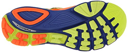 Saucony hombres Zealot-ISO Series Running zapatos,Vizi Orange/azul/Citron,12 M US