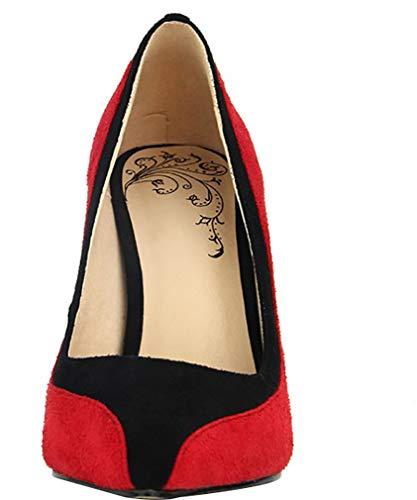 on Pointed Stiletto 9CM Women Toe Shoes Slip Calaier Huifen Red Court ZUPw6qn0R