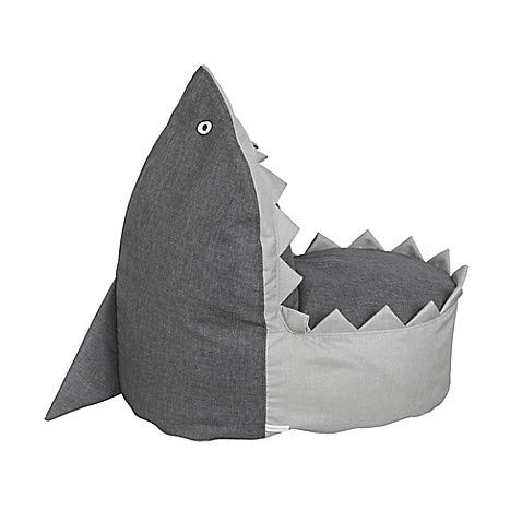 - Nursery Smart Sharky The Baby Shark Kid's Fun Soft Comfy Bean Bag Chair, Measures 18.1