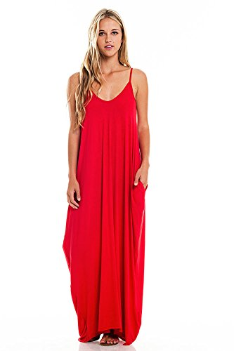 pink-ice-womens-trendy-harem-cut-maxi-dress-w-pockets-s-red